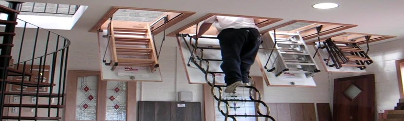 Great Attic Access Stairs Install